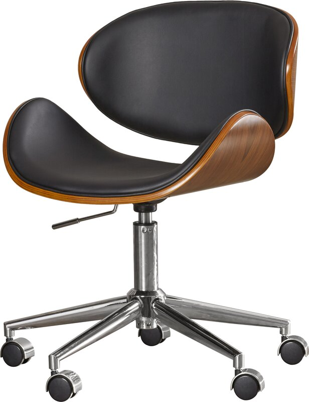 leather office chair. Urban Unity Quinn Mid-Back Leather Office Chair