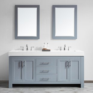 Neva 72 Double Bathroom Vanity Set with Mirror by Wrought Studio