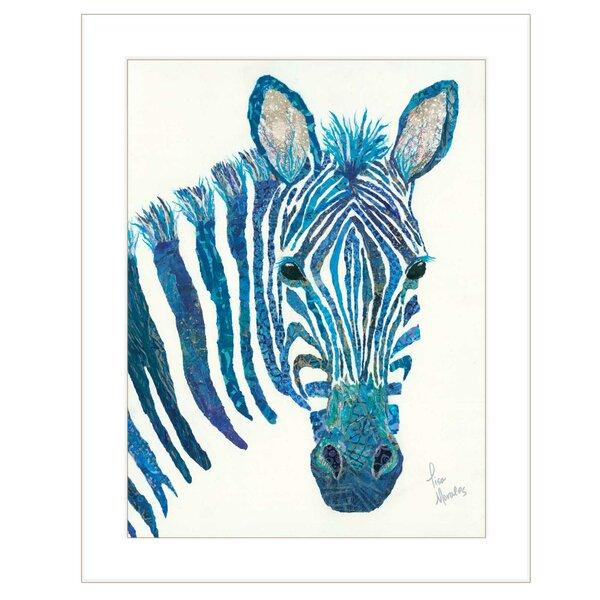Bloomsbury Market Blue Zebra By Lisa Morales Picture Frame Painting Print On Paper Wayfair