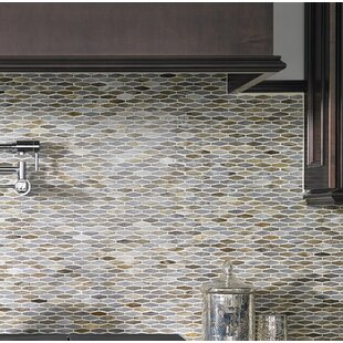 Mochachino Hexagon Glass Mosaic Tile in Taupe