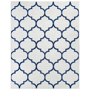 Affordable Price Steadham Power Loom Lily White Area Rug By Charlton Home