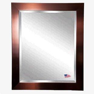 Mercer41 Shiny Bronze Petite Wall Mirror
