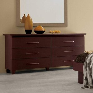 6 Drawer Double Dresser by Noci Design