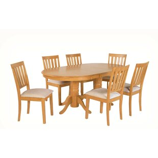 Schacht 7 Piece Extendable Solid Wood Din..