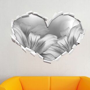 Turquoise Lilies Wall Sticker By East Urban Home