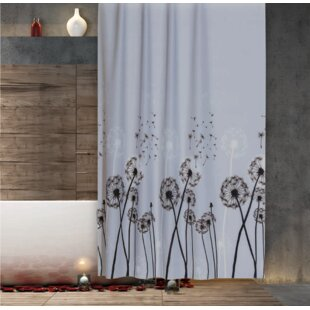 Dandelion Fabric Extra Long And Wide Shower Curtain