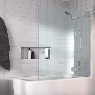 Hinged Frameless Tub Door by Glass Warehouse