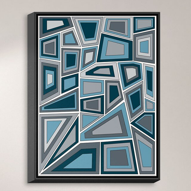 Dianochedesigns Mid Century Tango Framed Graphic Art On Wrapped Canvas Wayfair