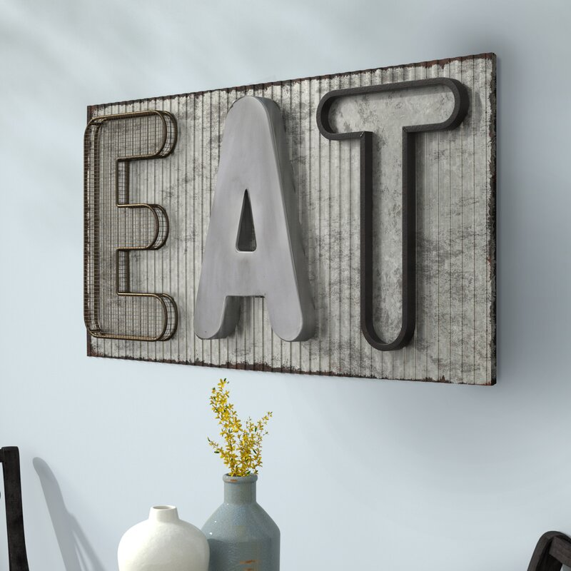 Farmhouse Metal Word Sign Distressed Primitive Farmhouse Decor Industrial