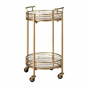 Howden Metal Mirrored Bar Cart