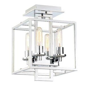 Borkowski 4-Light Semi Flush M..