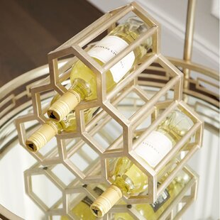 Hex Hut 6 Bottle Tabletop Wine Rack by Cy..