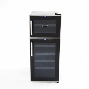 21 Bottle Dual Zone Freestanding Wine Cooler by Whynter