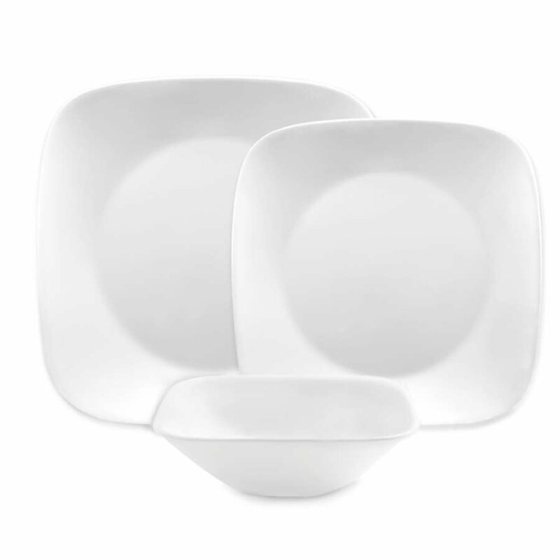 Square 16 Piece Dinnerware Set Service for 4  sc 1 st  Wayfair : black square plate set - pezcame.com