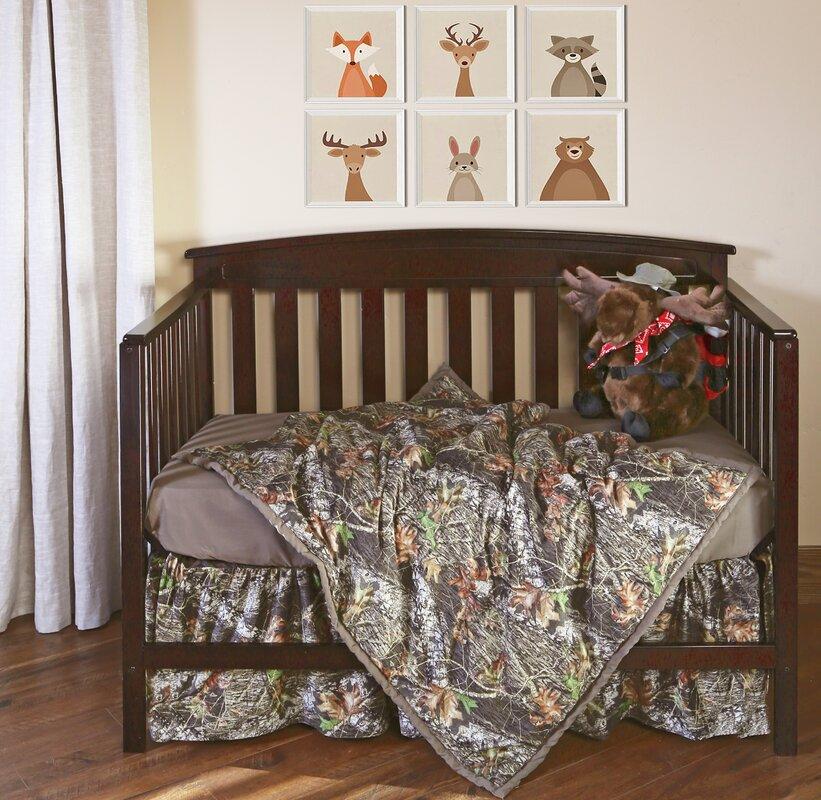 Superior Mossy Oak Break Up Camo 3 Piece Crib Bedding Set