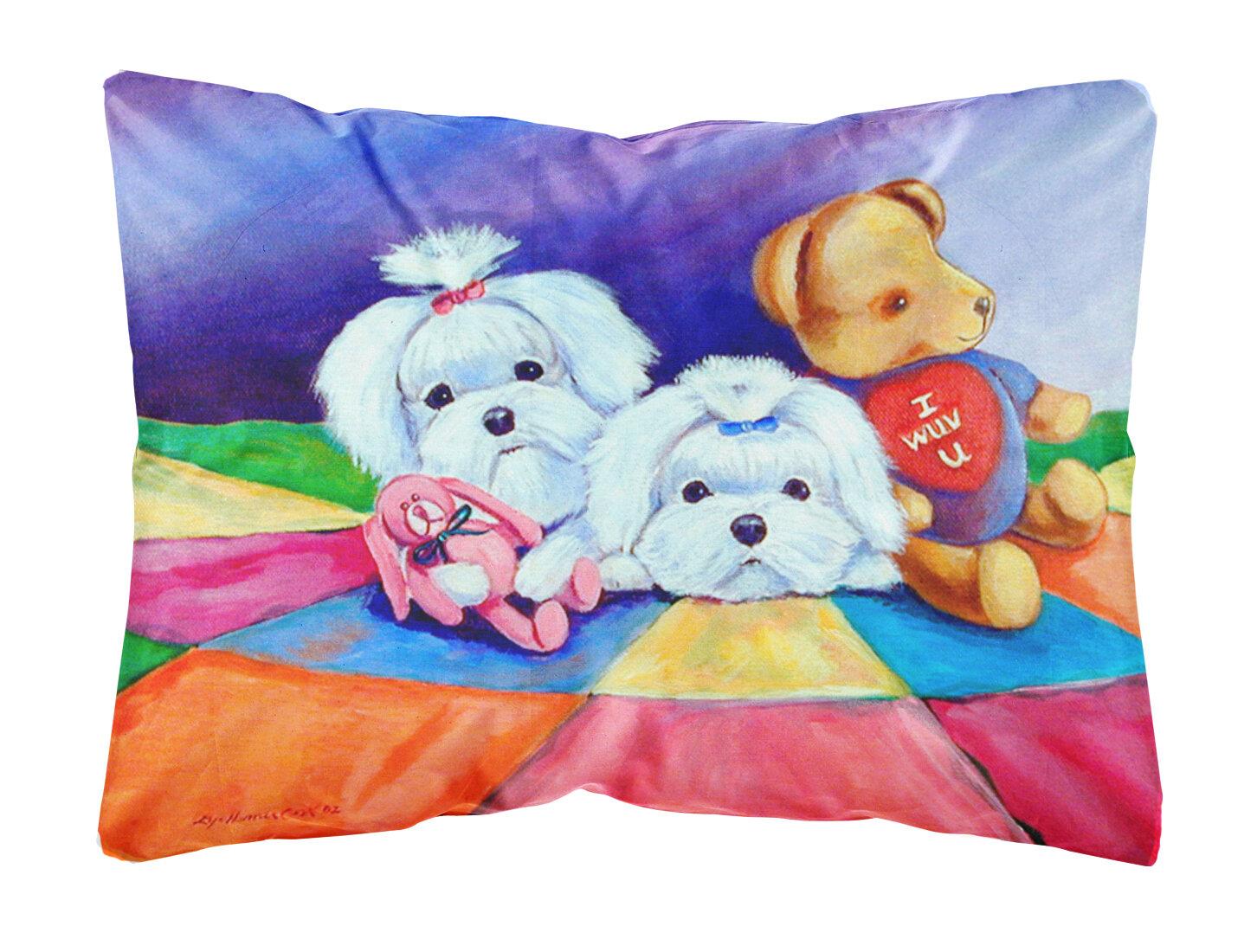 East Urban Home Maltese Indoor Outdoor Throw Pillow Wayfair