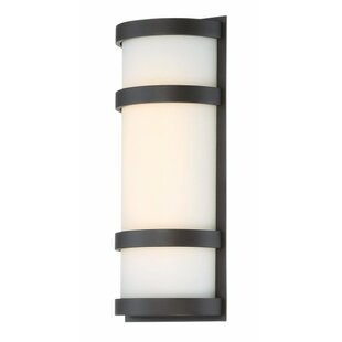 Compare Ferriera 1-Light LED Outdoor Sconce By Ebern Designs