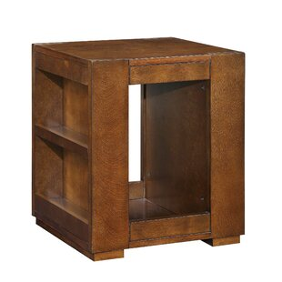 Millwood Pines Tarrytown Side Storage Bookshelf Wooden End Table with Storage