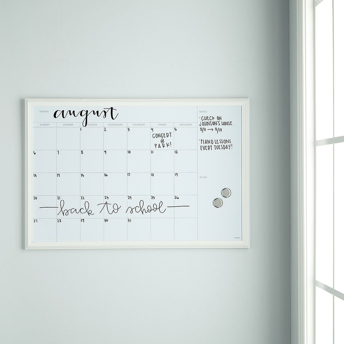 Symple Stuff Magnetic Calendar Planner Whiteboard 30 X 20 Reviews Wayfair