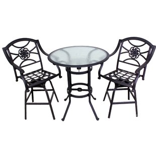 Fleur De Lis Living Ross 3 Piece Bistro Set