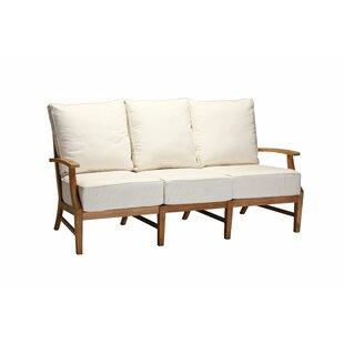 Croquet Teak Patio Sofa with Cushions by Summer Classics