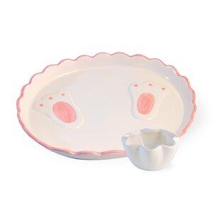 Bunny Hoppy Easter 10\  Dinner Plate (Set of 2)  sc 1 st  Wayfair & Pink Dinner Plates You\u0027ll Love | Wayfair