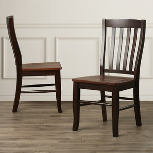 Calvert Solid Wood Dining Chair (Set of 2) Alcott Hill
