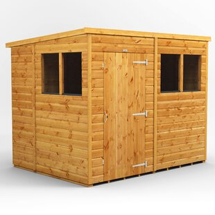 8 Ft. W X 6 Ft. D Shiplap Pent Wooden Shed By WFX Utility