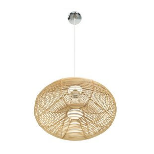 Niamh Continuous Weave Discus Wicker 1 Light Inverted Pendant