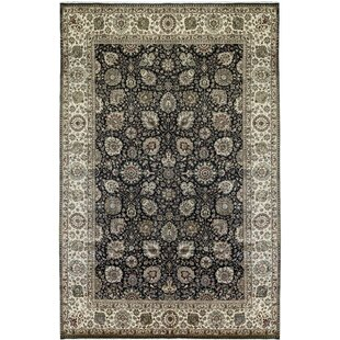 Affordable One-of-a-Kind Sona Handwoven 11'8 x 17'1 Wool Black/Beige Area Rug By Bokara Rug Co., Inc.