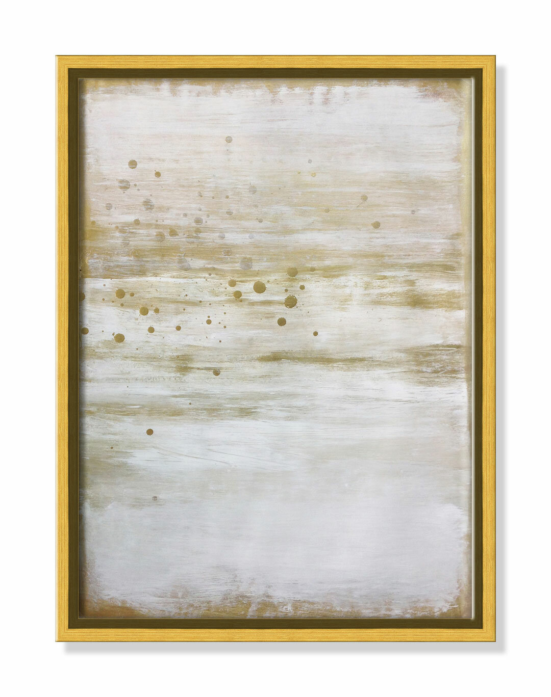 Casafinearts Golden Whiteout Floater Frame Painting On Canvas Wayfair