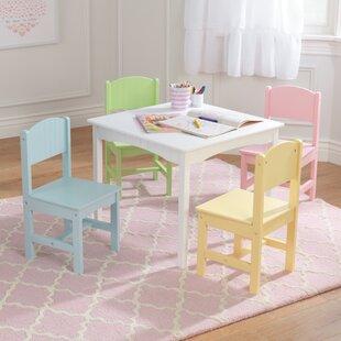 93a48b00912df Nantucket Kids 5 Piece Writing Table   Chair Set