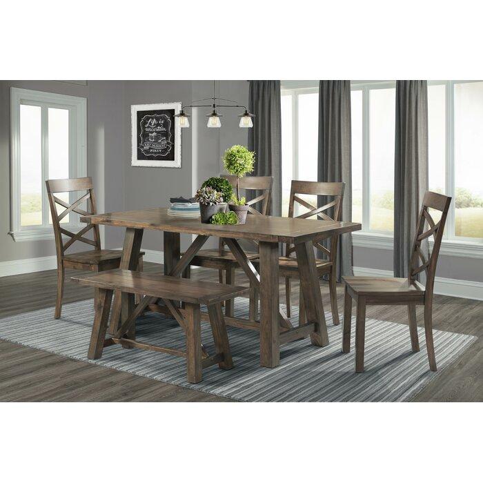 Peachy Bailee 6 Piece Solid Wood Dining Set Ibusinesslaw Wood Chair Design Ideas Ibusinesslaworg