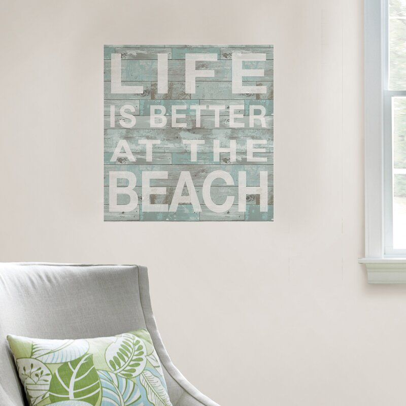 Highland Dunes Better At The Beach Quote Wall Decal Reviews Wayfair
