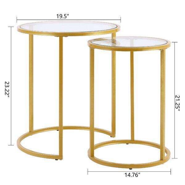 Owensville Glass Frame Nesting Tables