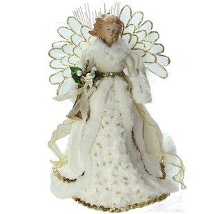 lighted angel in gown christmas tree topper - Angel Topper For Christmas Tree