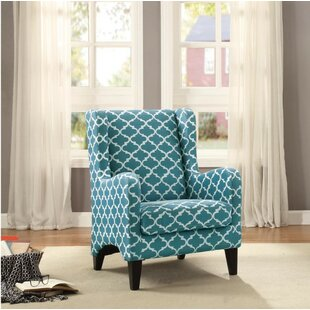 Highland Dunes Fordham Upholstery Padded Wingback Chair