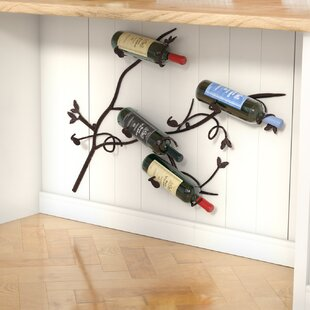 Bomberger 6 Bottle Wall Mounted Wine Rack