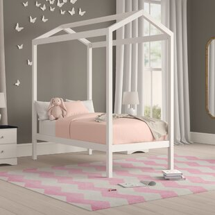 Brionna Solid Wood House Twin Platform Bed