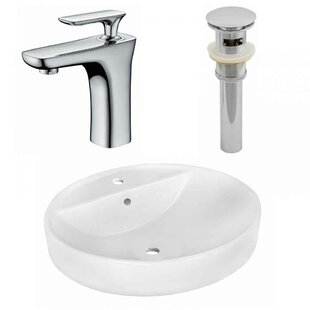 Shop For Ceramic Oval Vessel Bathroom Sink with Faucet and Overflow By Royal Purple Bath Kitchen