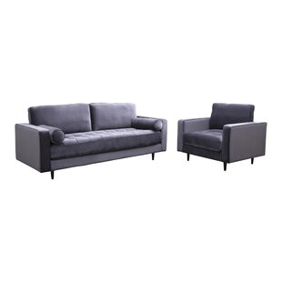 Compare & Buy Leela Tufted Velvet 2 Piece Living Room Set by Mercer41 Reviews (2019) & Buyer's Guide