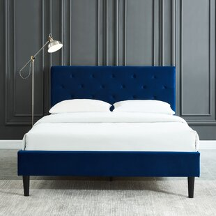 Bravo Upholstered Platform Bed Frame by Trule Teen