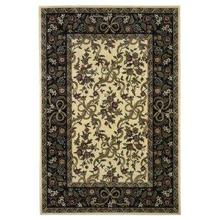 Shop For Bellville Ivory/Black Floral Area Rug ByCharlton Home