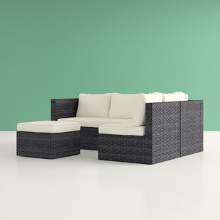 Ceniceros L-Shaped 5 Seater Rattan Sectional Sofa Set Image