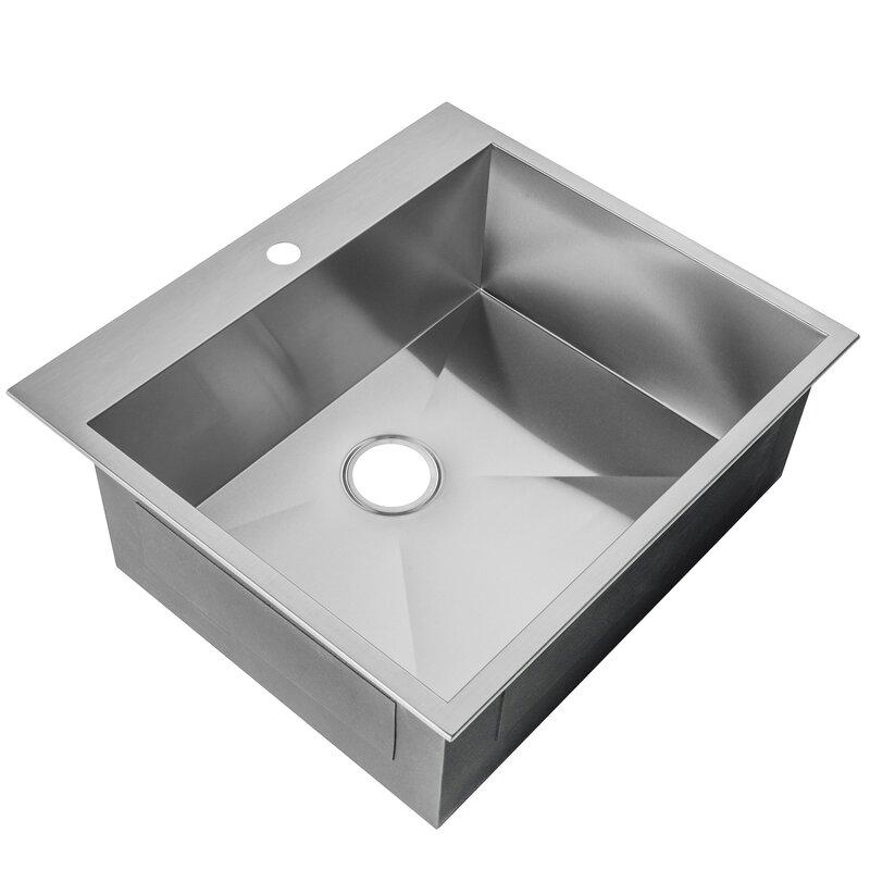 25   x 22   drop in kitchen sink akdy 25   x 22   drop in kitchen sink  u0026 reviews   wayfair  rh   wayfair com