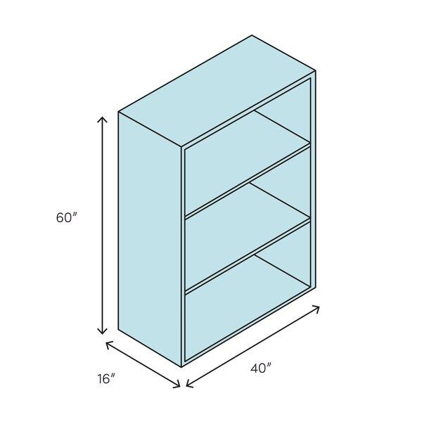 Millwood Pines Ledezma 60 H X 40 W Solid Wood Standard Bookcase Wayfair