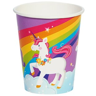 Fairytale Unicorn Party Paper Disposable Every Day Cup