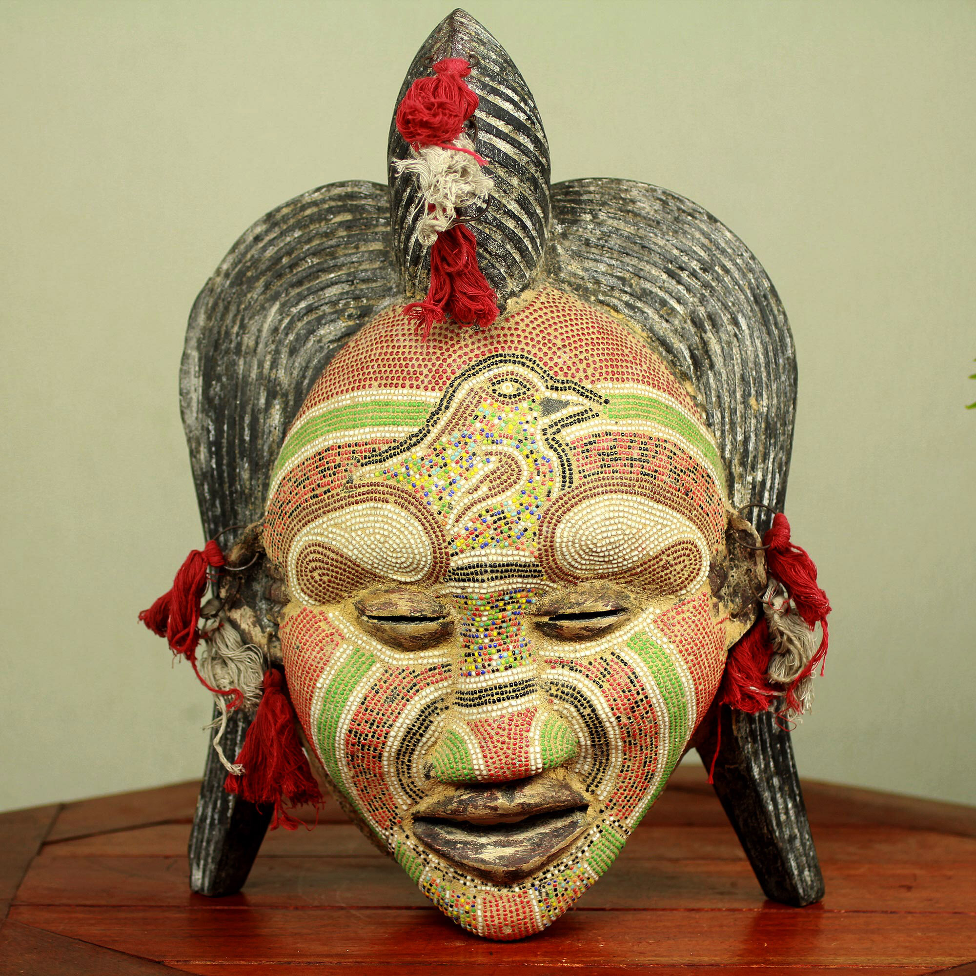 Novica Ancient River Goddess Congolese Wood African Mask Wall Décor ...