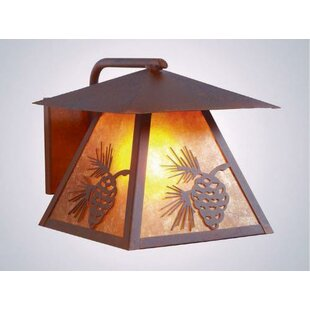 Check Prices Pinecone 1-Light Outdoor Sconce By Steel Partners