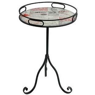 Great Price Radnor Old News Paper Style End Table by Williston Forge